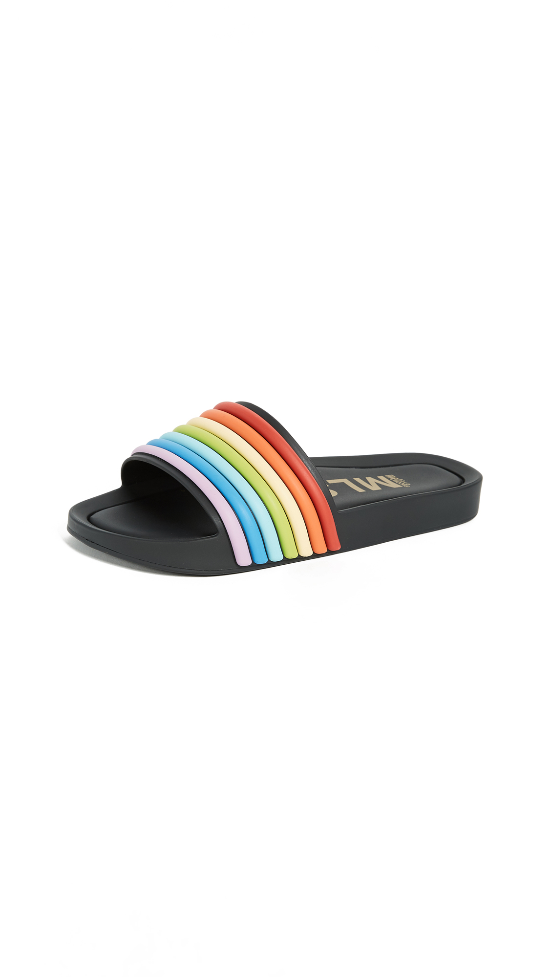 Melissa Beach 3DB Rain Slides - Black Multicolor