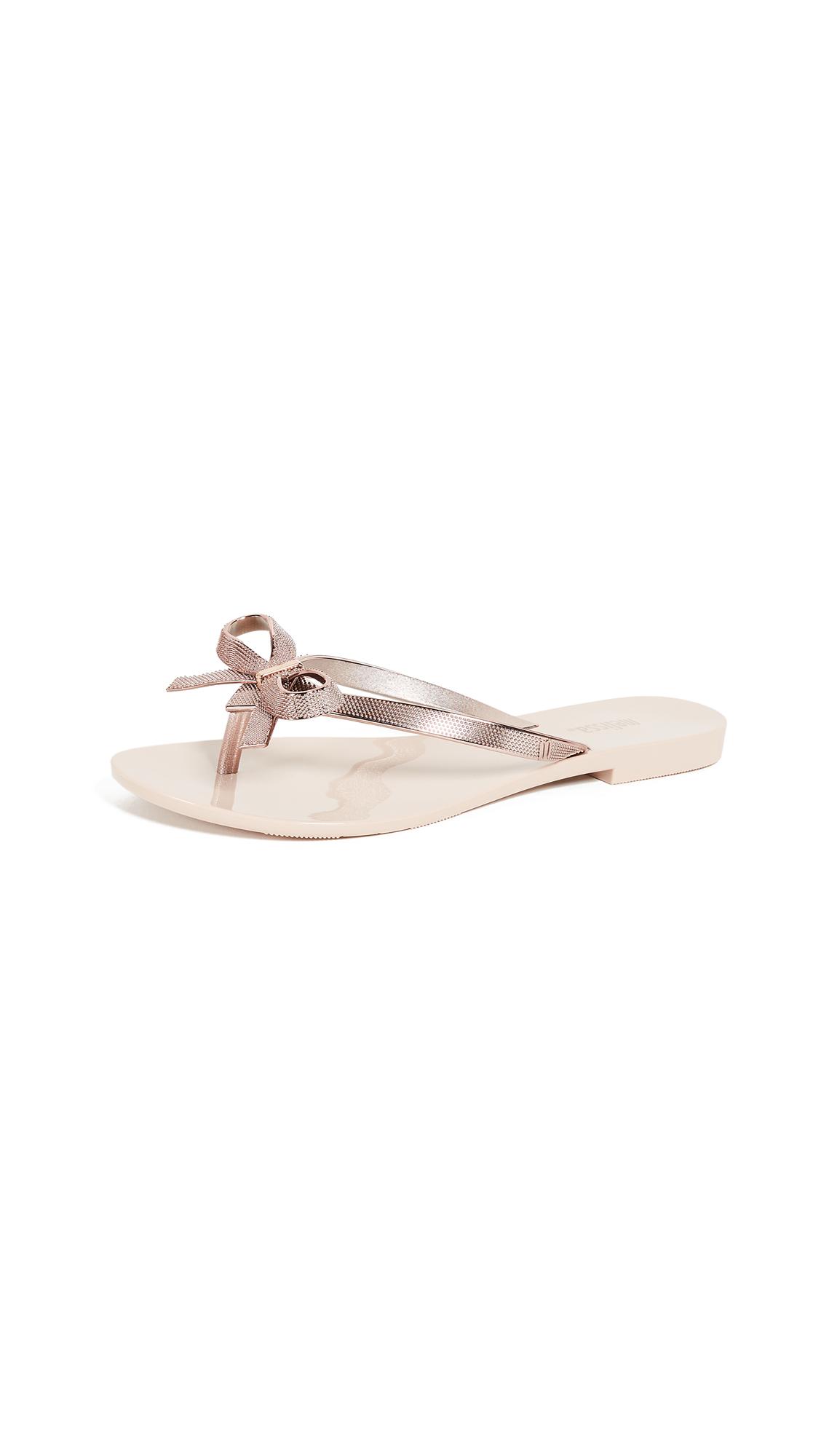 Melissa Harmonic Chrome II Bow Slides - Rose Gold