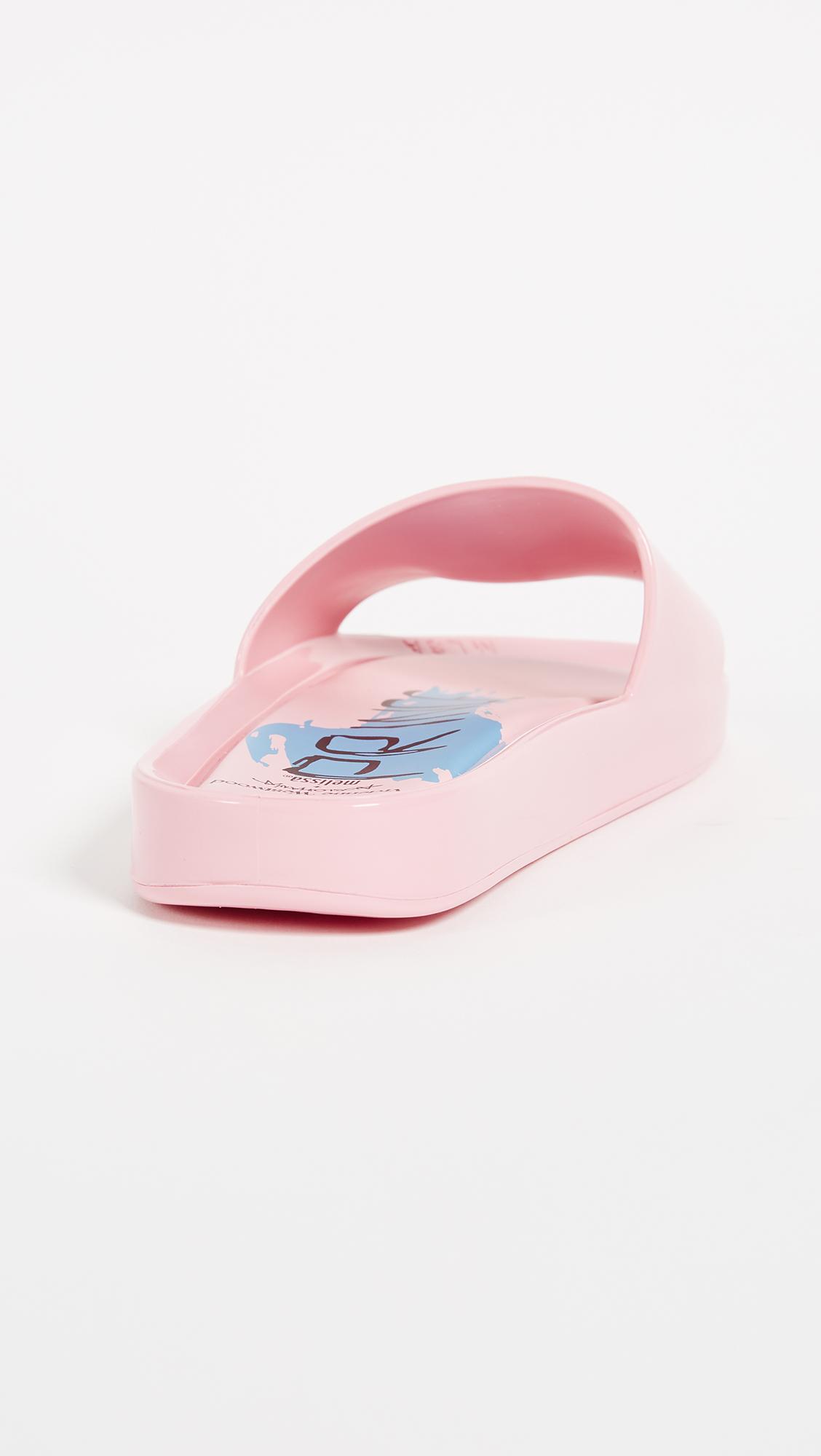 Melissa x Vivienne Westwood Beach Slides II - Pink/Royal
