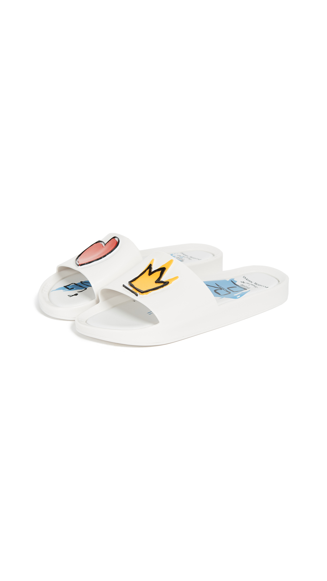 Melissa x Vivienne Westwood Beach Slides II - White/Royal