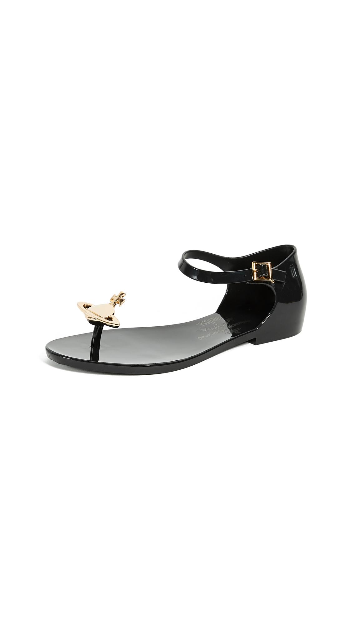 Melissa x Vivienne Westwood Honey Sandals - Black Gold