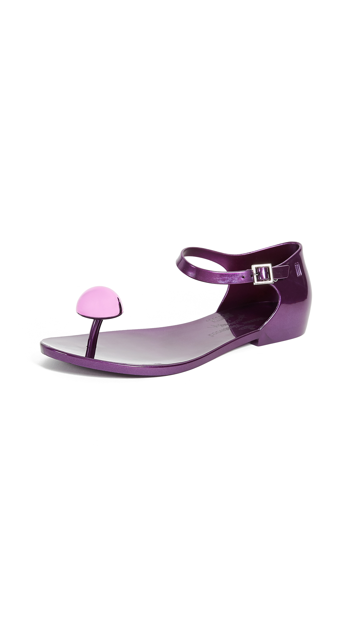 Melissa x Vivienne Westwood Honey Sandals - Deep Lilac Metallic