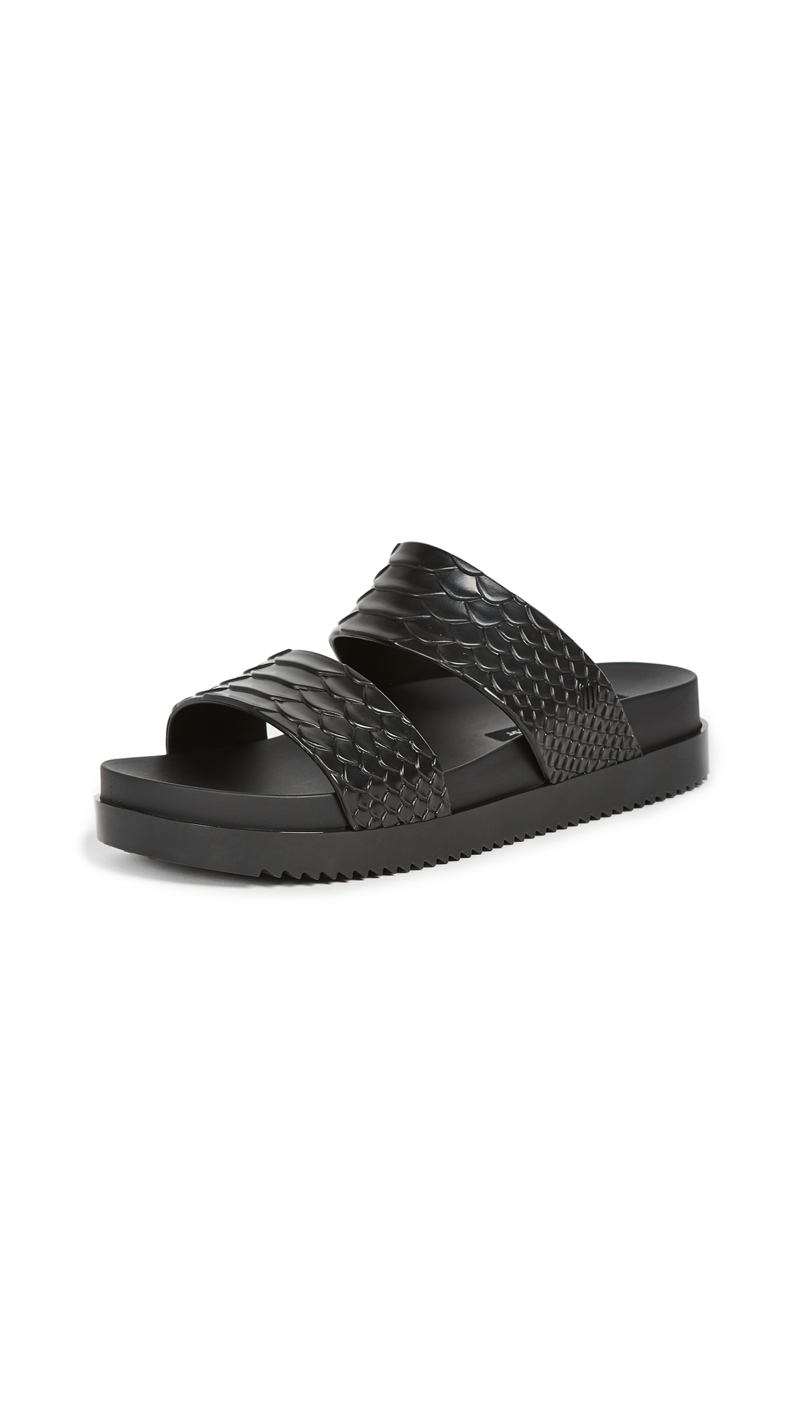 Melissa x Baja East Cosmic Slides - Black