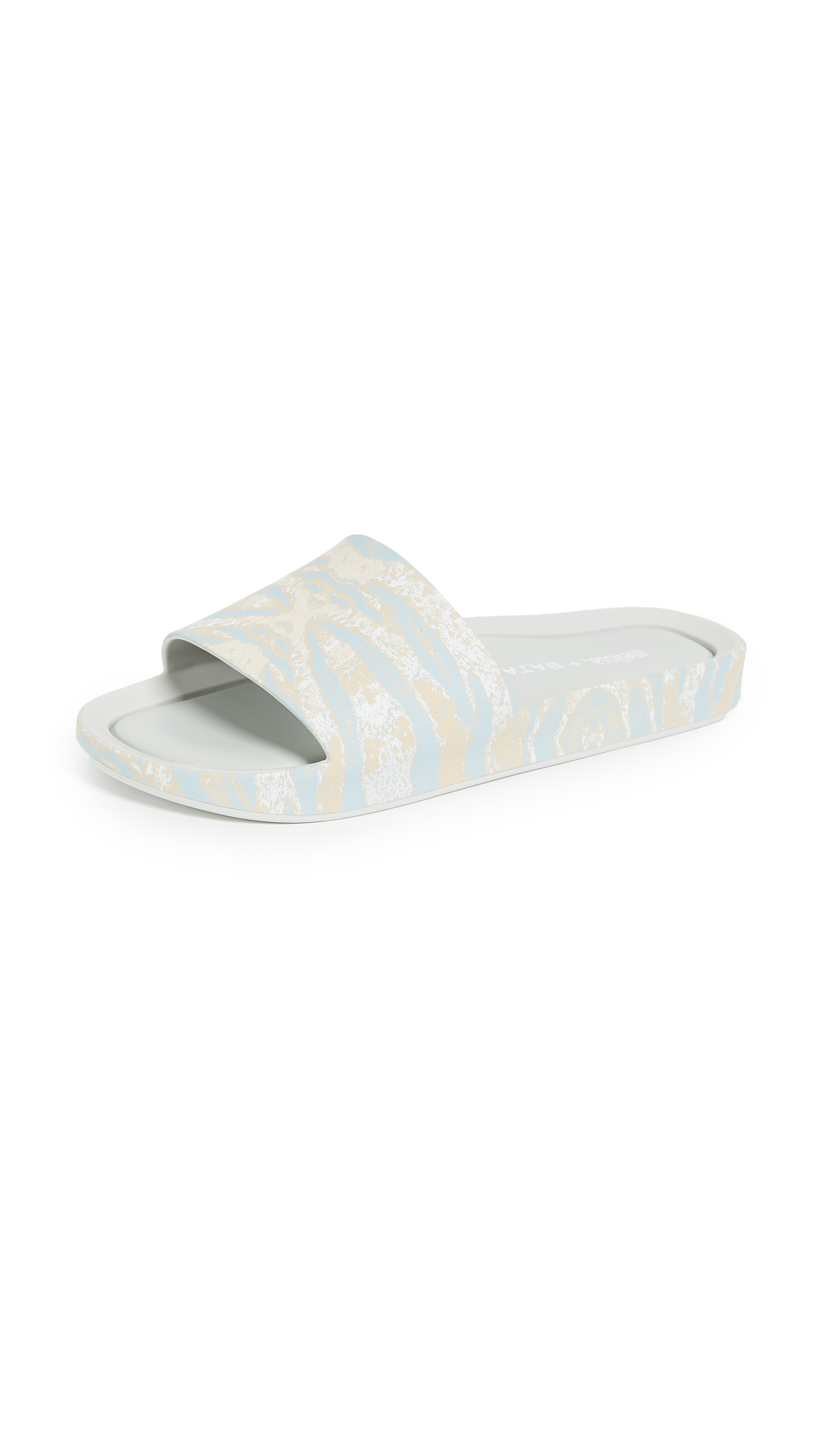 Melissa x Baja East Beach Slides - Grey Printed