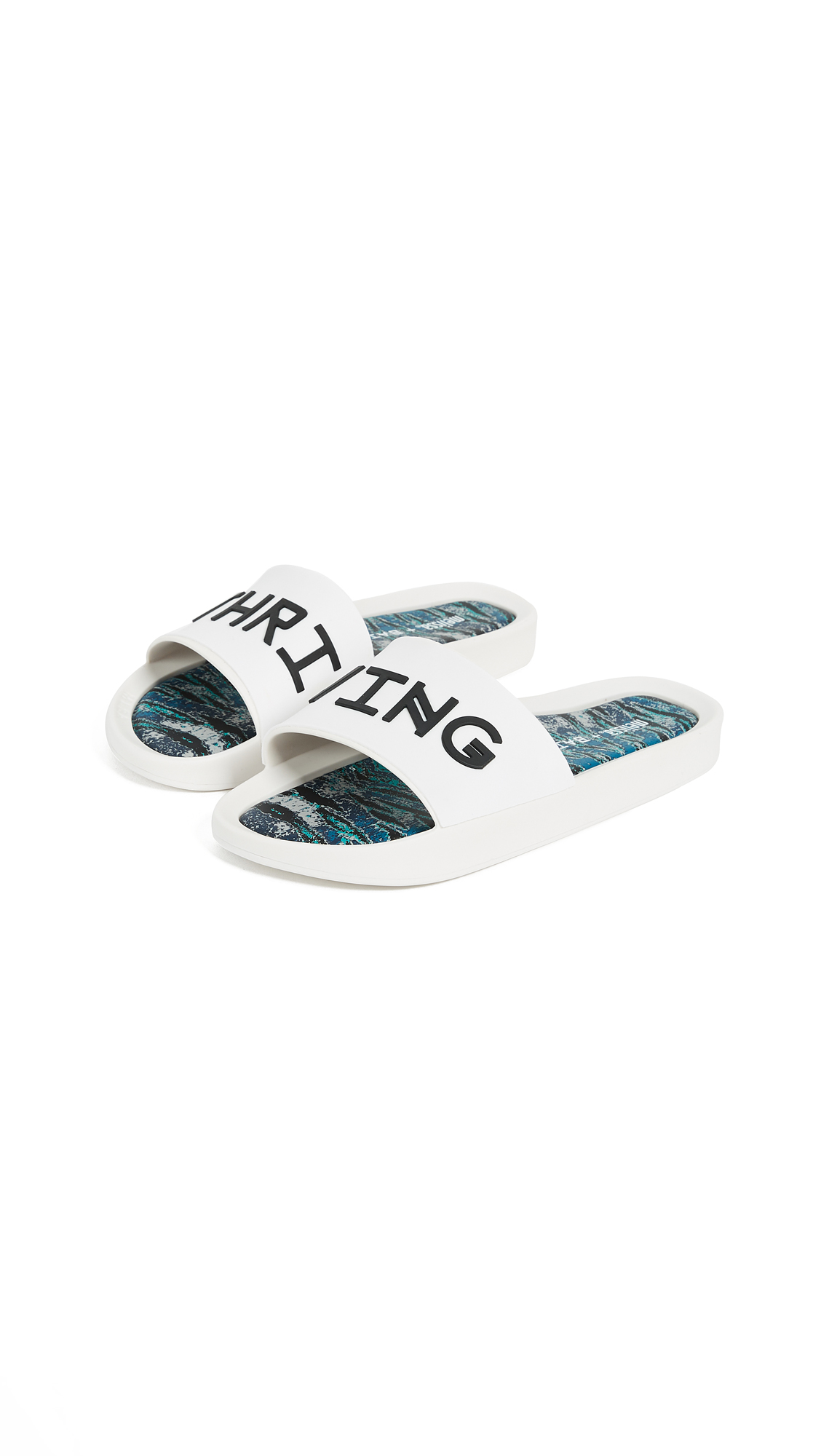 Melissa x Baja East Beach Slides - White