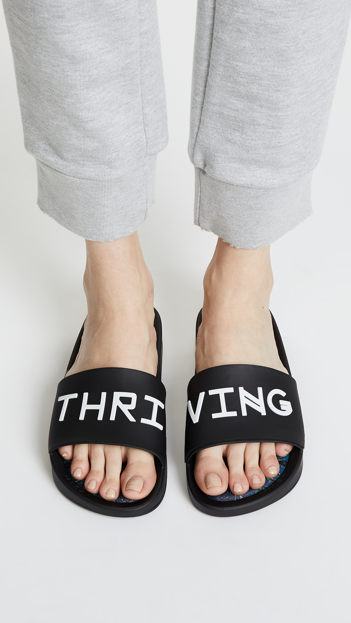 Baja East Melissa + Thriving Slide Sandals