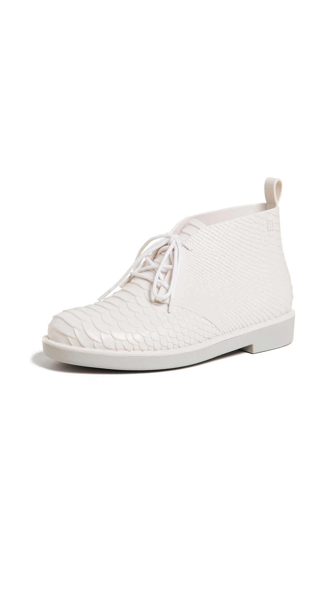 Melissa x Baja East Desert Boots - Grey White