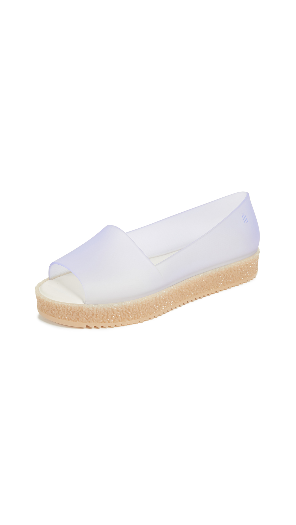 Melissa Puzzle Peep Toe Flats - Clear