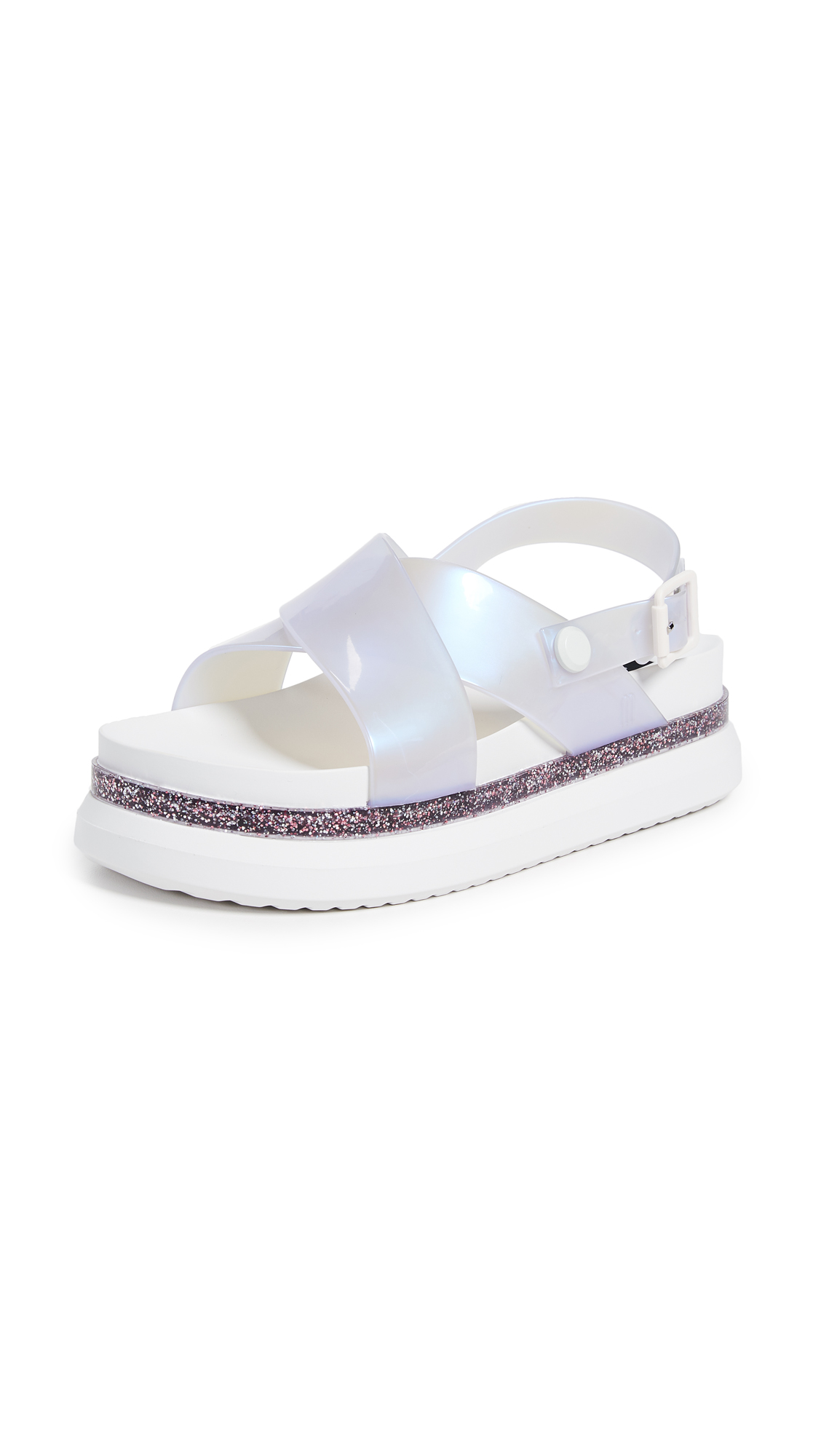 Melissa Cosmic Sandals - White Lilac/Pearl