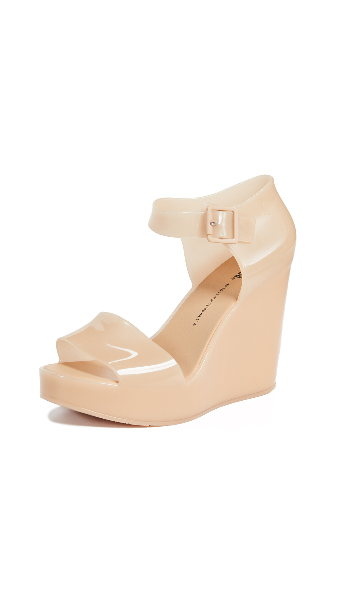 Melissa Mar Wedge Sandals - Beige Marzipan