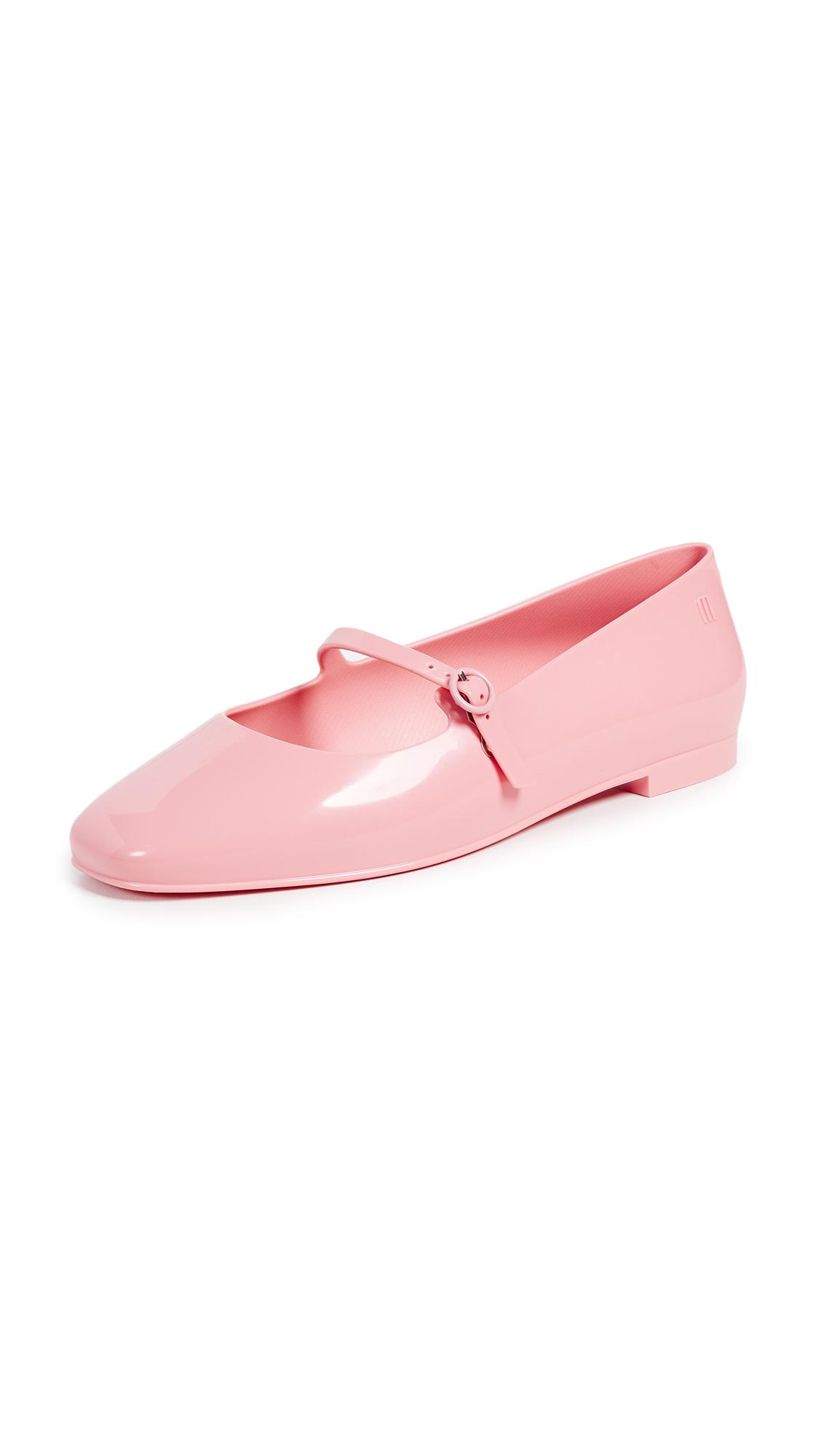 Melissa Believe Mary Jane Flats - Pink Beige