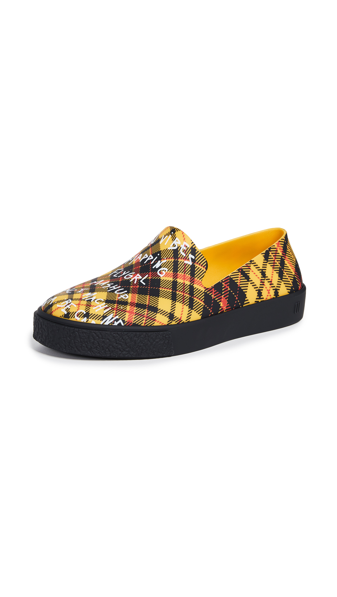 Melissa Ground Slip On Sneakers - Yellow/Black