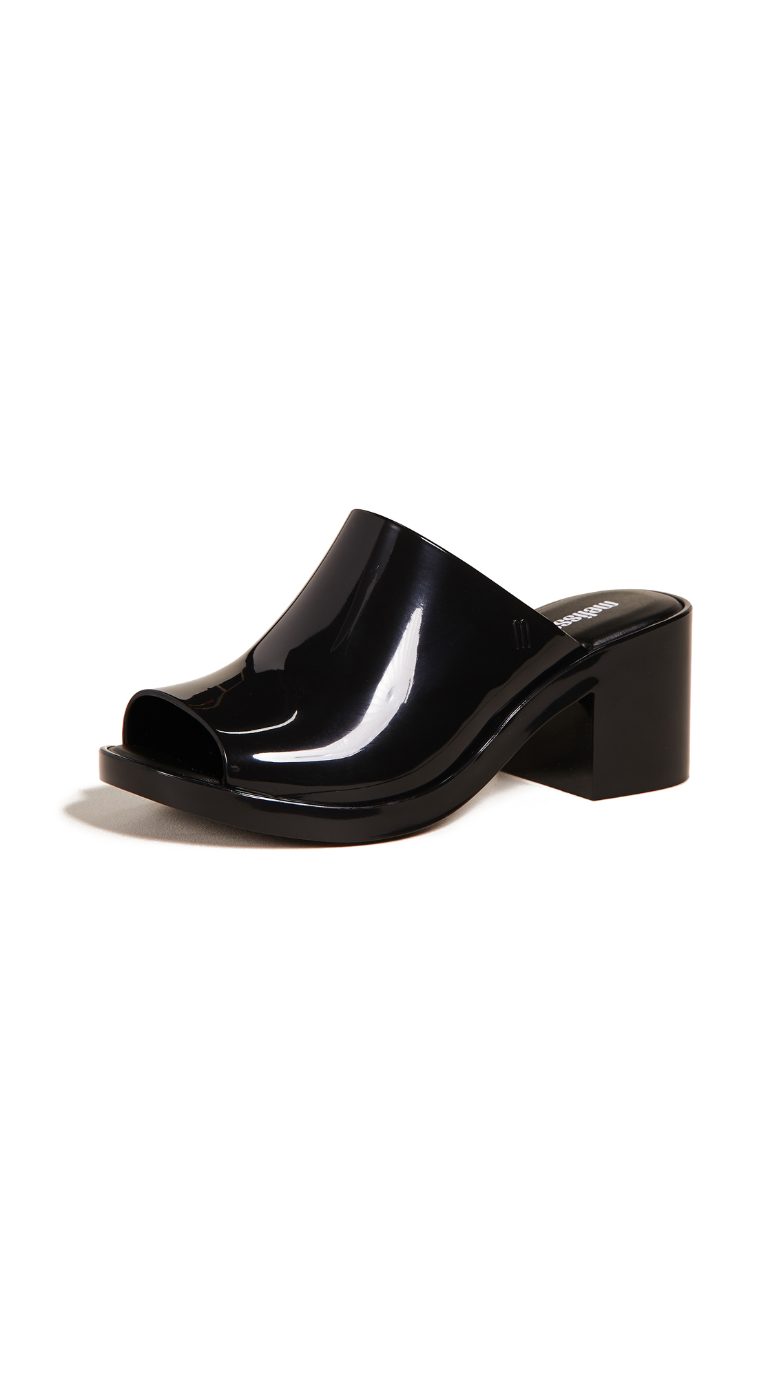 Melissa Mule Open Toe Sandals - Black