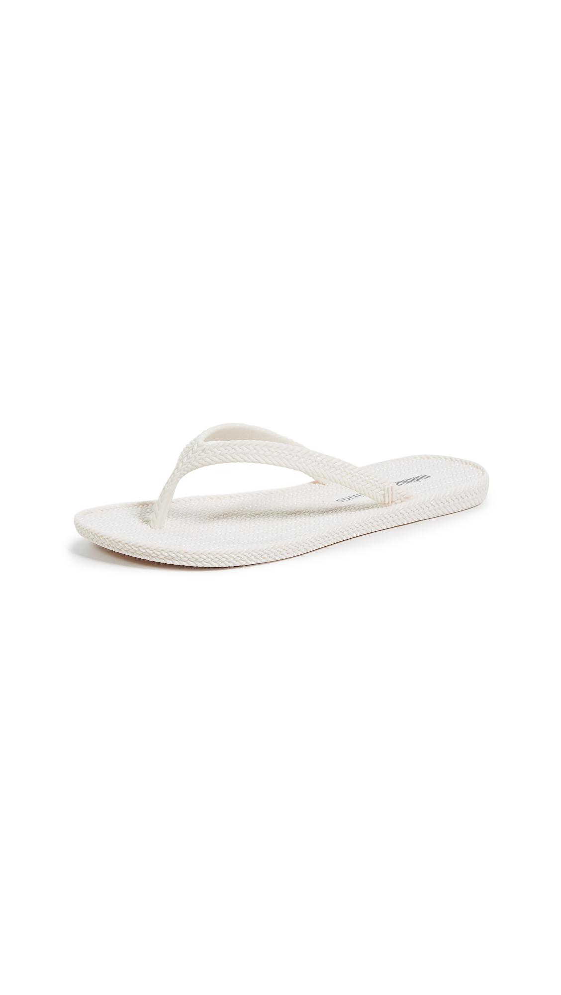 Melissa x Salinas Summer Flip Flops - Off White