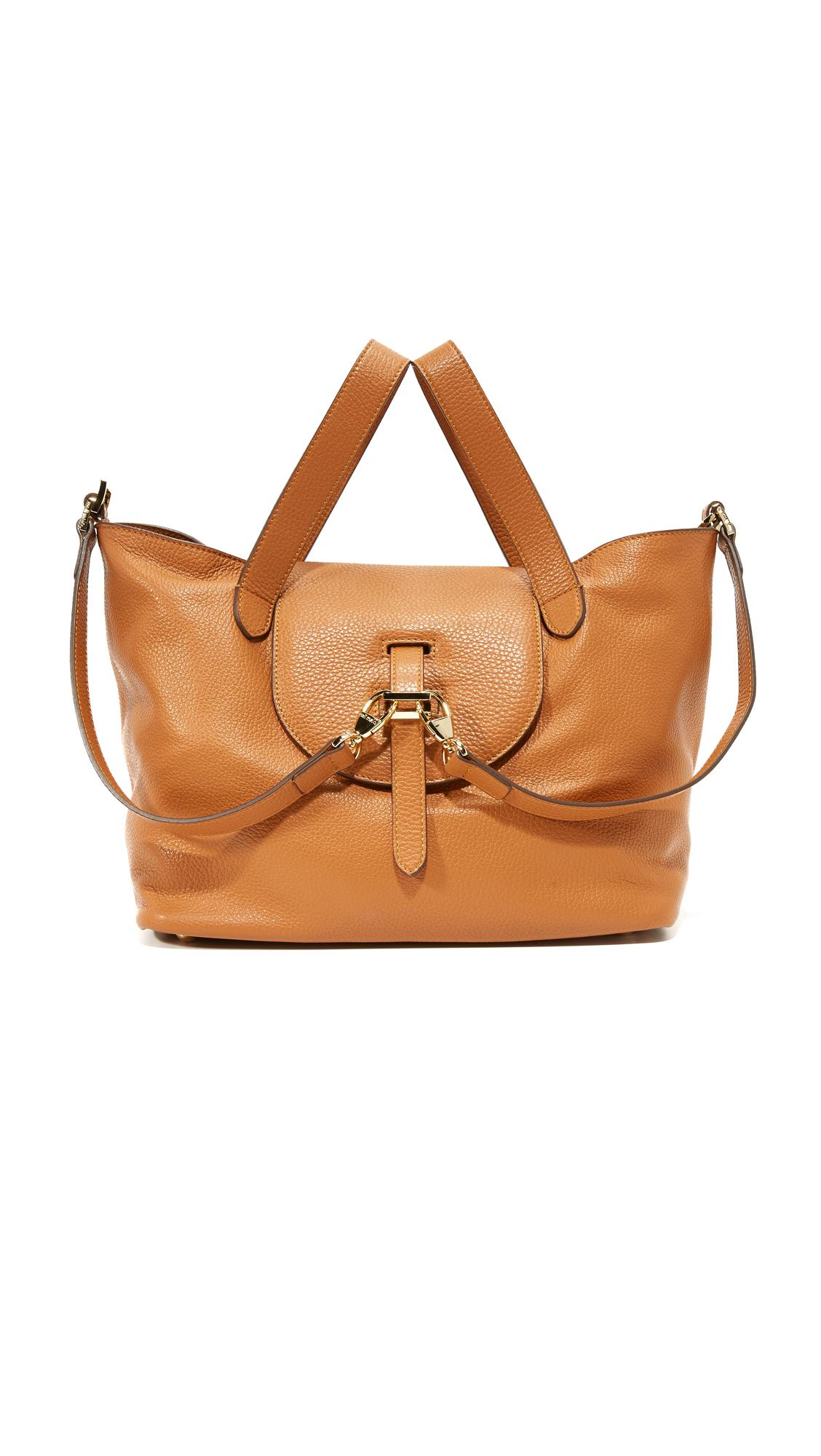 meli melo female 263045 meli melo thela medium handbag tan