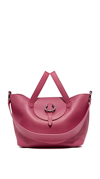meli melo Rosa Thela Medium Satchel - Bordeaux