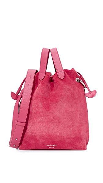 meli melo Hazel Drawstring Bag - Bordeaux
