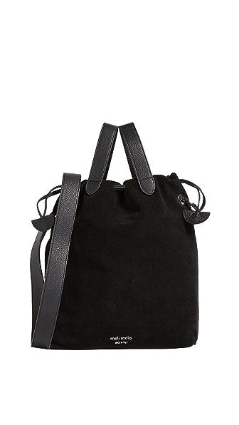 meli melo Hazel Drawstring Bag In Black