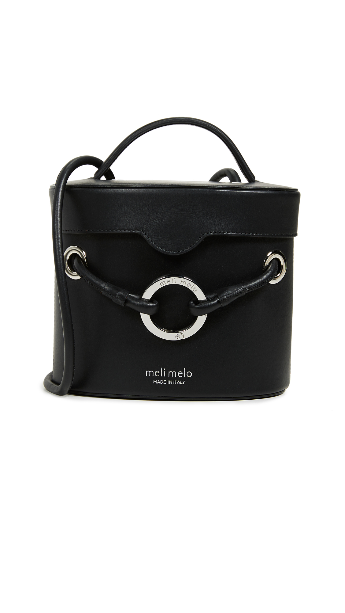 Nancy Structured Bucket Bag, Black