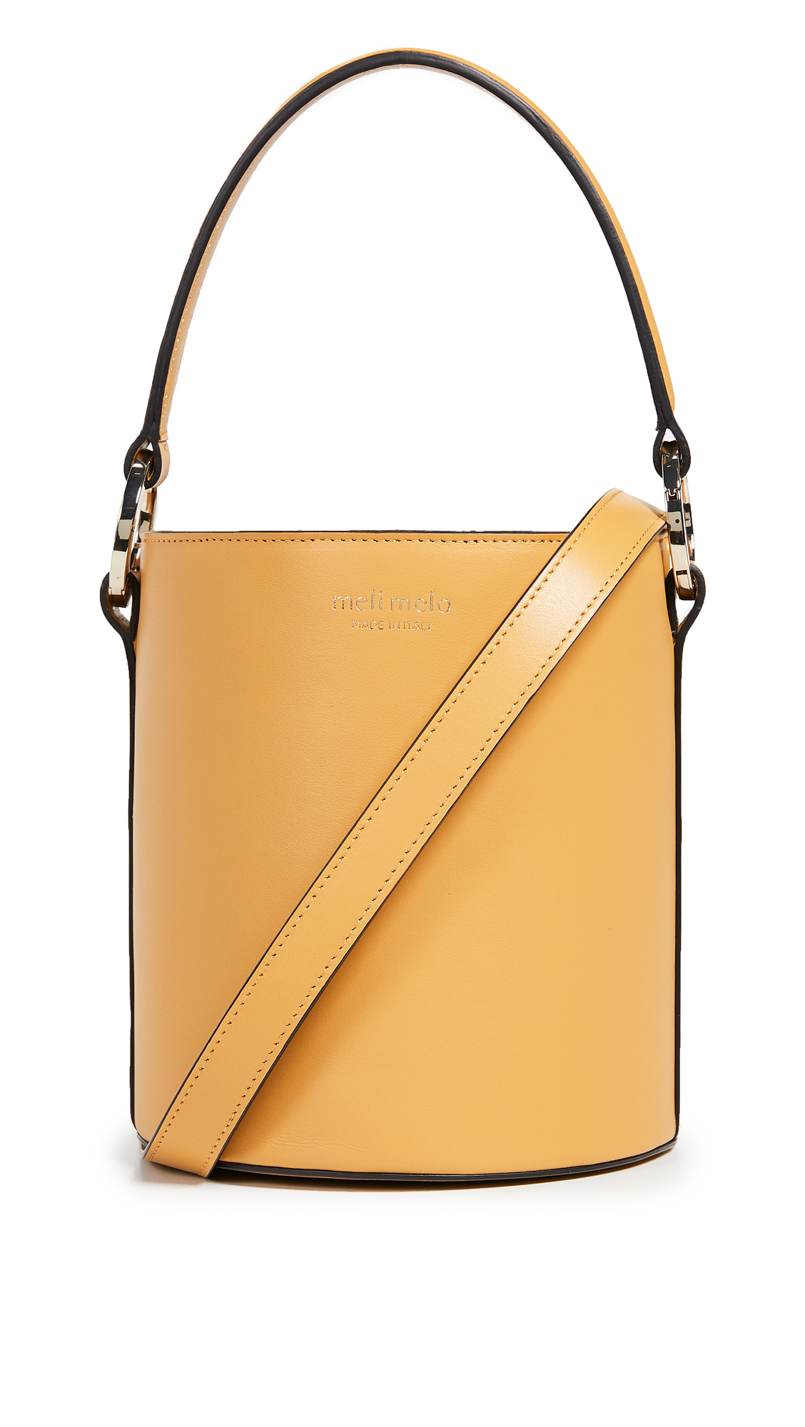 Santina Mini Bucket Bag, Golden Hour