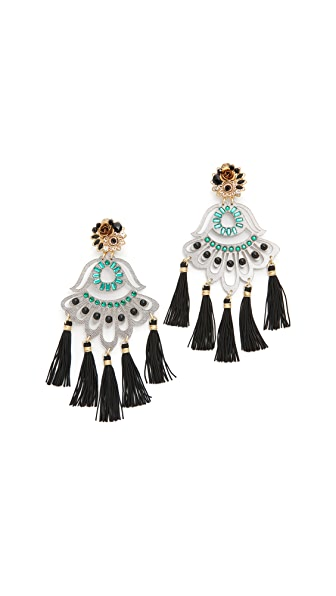 Mercedes Salazar Petite Artes Fiesta Clip On Earrings