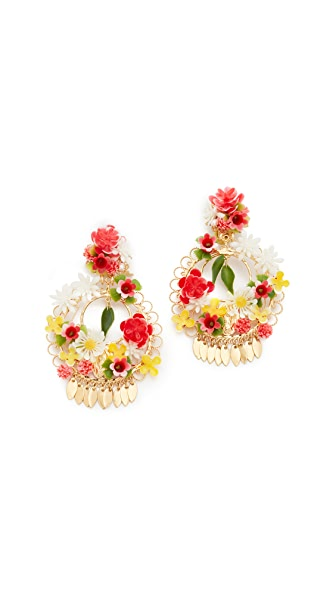 Mercedes Salazar Fanny Mora Earrings - Gold/Multi