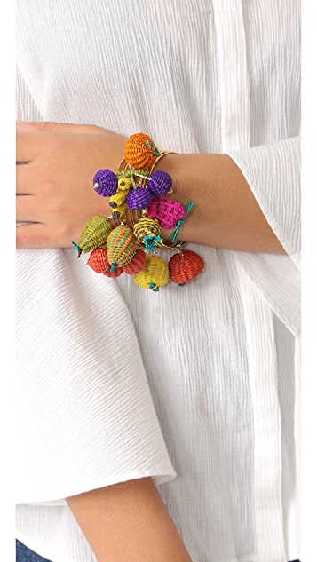 Mercedes Salazar Tuti Fruti Bangle Bracelet Set
