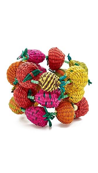 Mercedes Salazar Fruits & Beads Double Bracelet