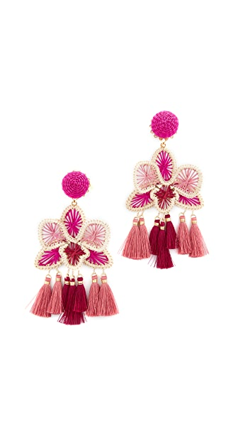Mercedes Salazar Orquidea Rosa Clip On Earrings - Rosa