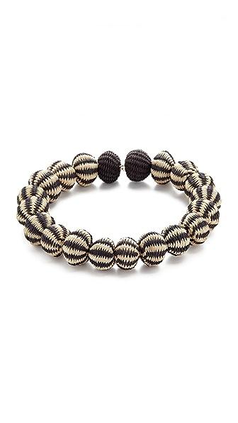 Mercedes Salazar Perla Choker Necklace In Black/White