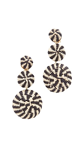 Mercedes Salazar Fiesta Tropical Earrings - Black Multi