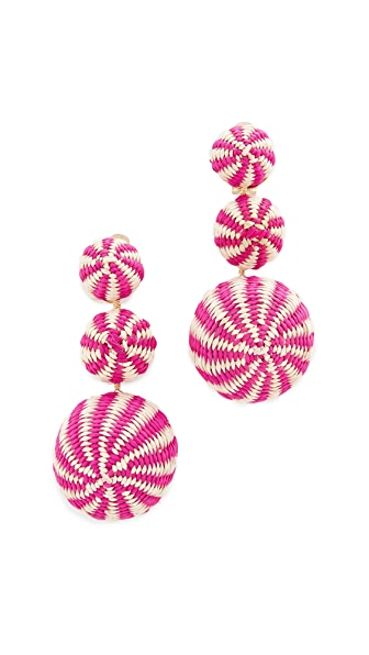 Mercedes Salazar Fiesta Tropical Earrings - Pink Multi