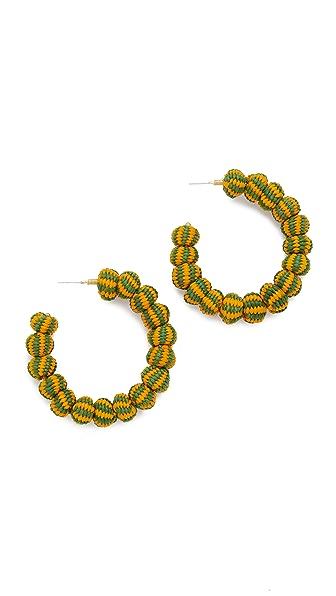 Mercedes Salazar Candonga Earrings - Orange/Green
