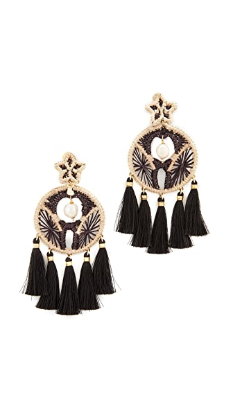 Mercedes Salazar Circulina Clip On Earrings - Black Multi