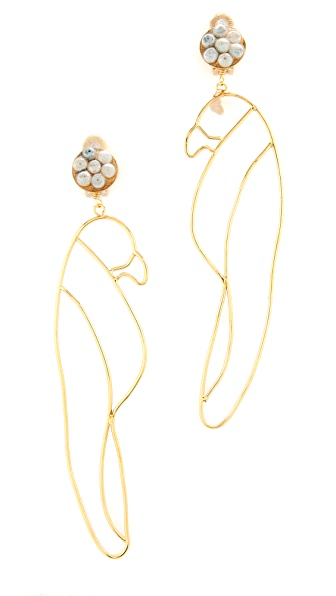 Mercedes Salazar Guacamayo Clip On Earrings