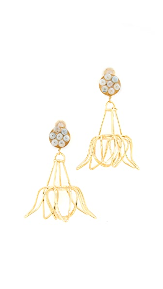Mercedes Salazar Florecina Clip On Earrings - Gold