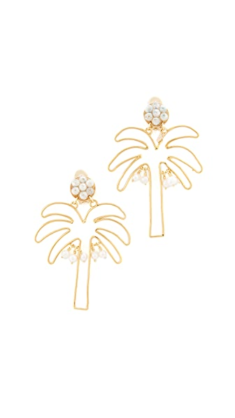 Mercedes Salazar Palmerita Earrings - Gold