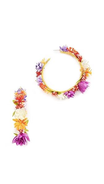 Mercedes Salazar Rainbow Days Hoop Earrings In Multi