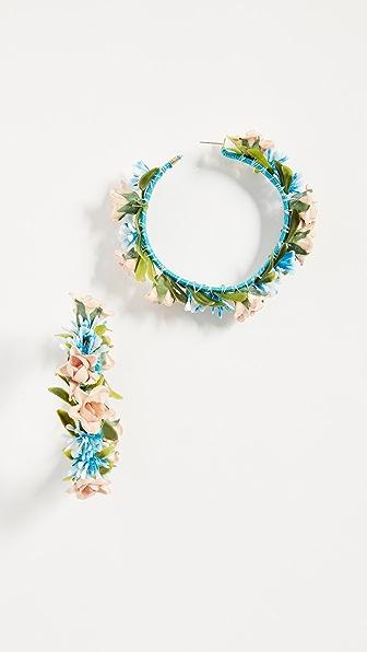 Mercedes Salazar Summer Breeze Hoop Earrings In Multi