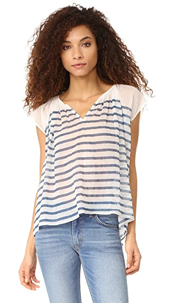 Mes Demoiselles Mathilde Striped Blouse - Blue Stripes