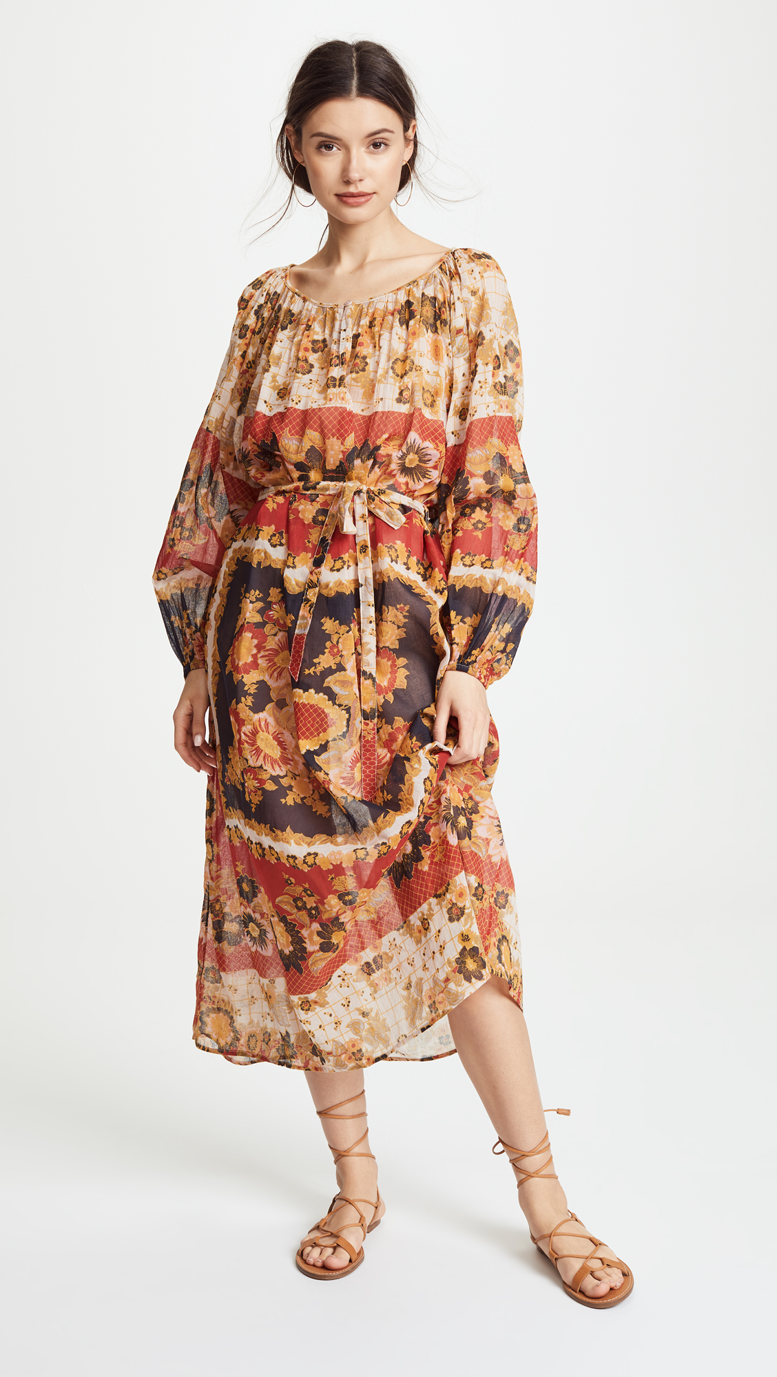 Matrioshka Maxi Dress in Red. - size 1 (S/M) (also in 0 (XS/S)) Mes Demoiselles... OuocYYa