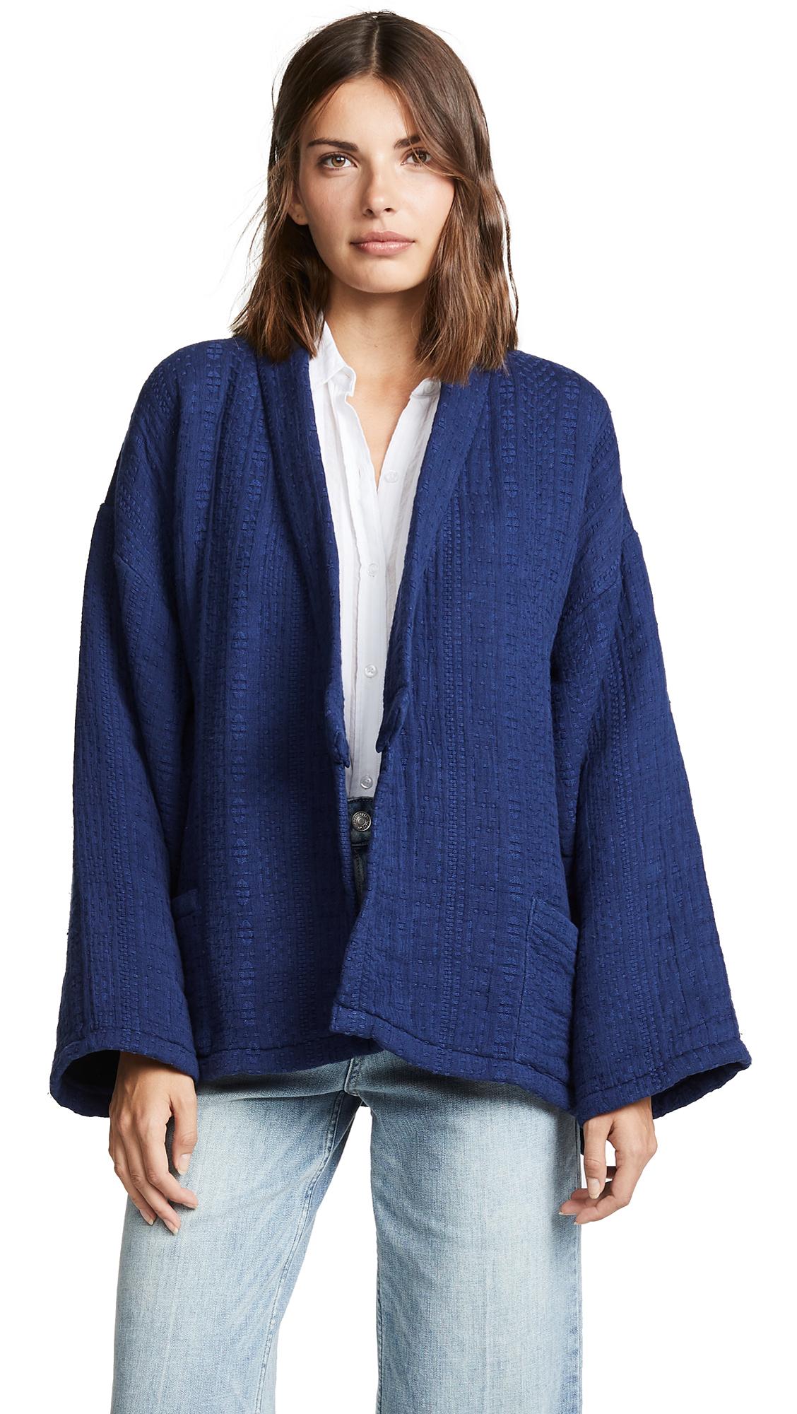 Mes Demoiselles Jacquard Kimono In Blue