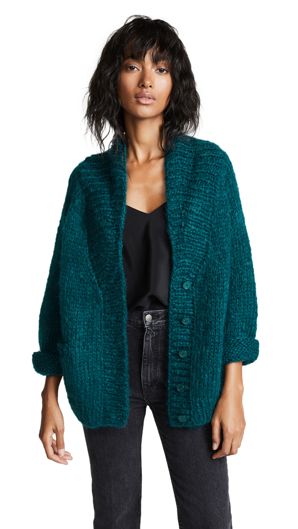 Mes Demoiselles Jecko Knitted Cardigan In Vert