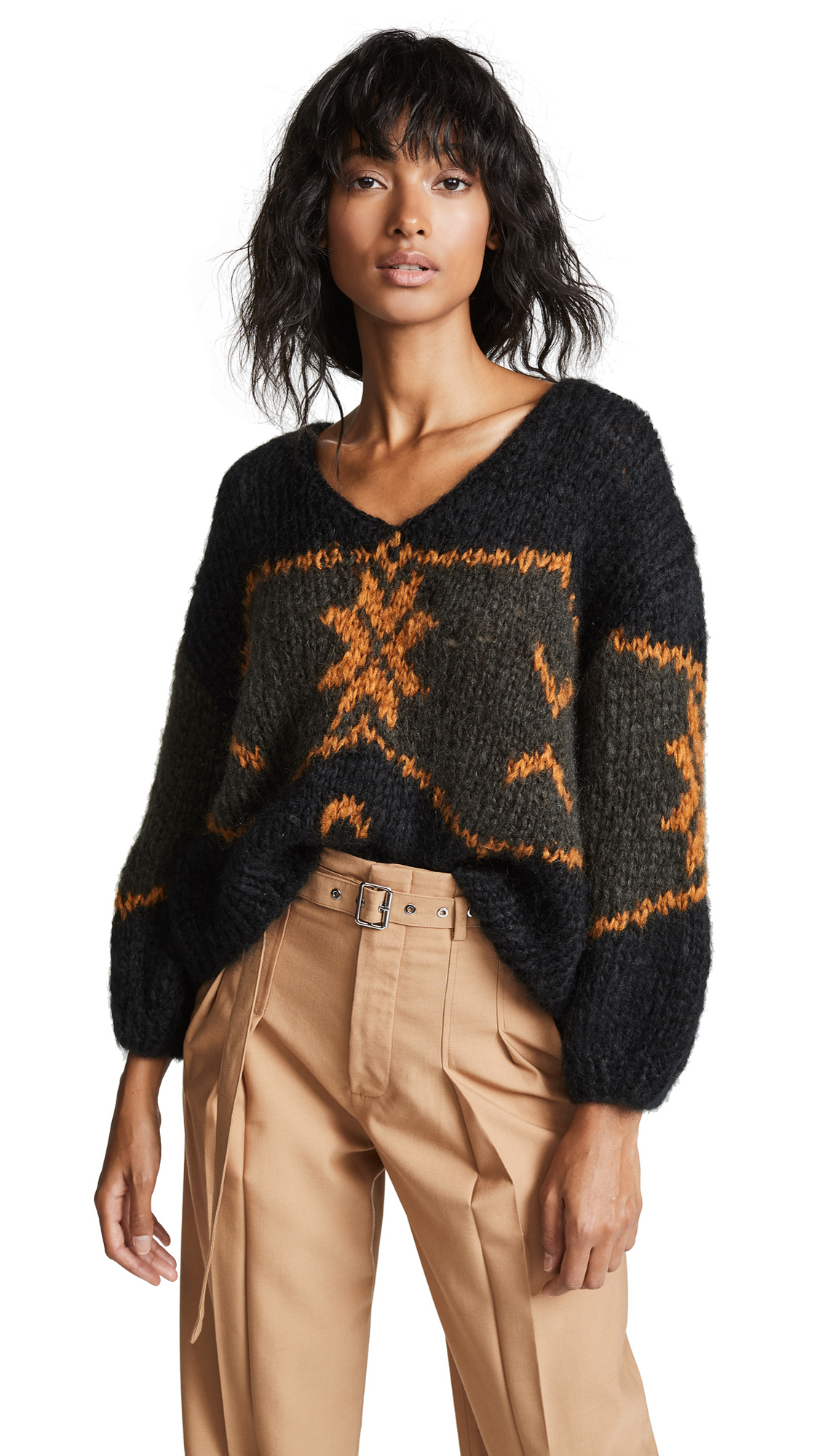 Mes Demoiselles Sigmund Knitted Sweater In Black Combo
