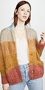 Mes Demoiselles 南洋杉针织马海毛开襟衫