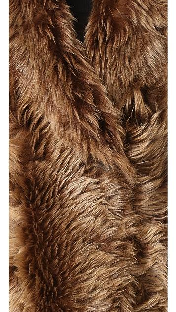 YVES SALOMON - METEO Reversible Short Shearling Jacket
