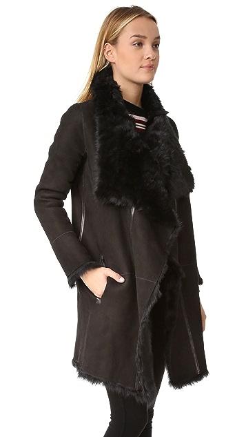 YVES SALOMON - METEO Reversible Long Shearling Jacket