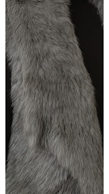 YVES SALOMON - METEO Rabbit Fur Vest
