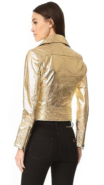 YVES SALOMON - METEO Gold Biker Jacket