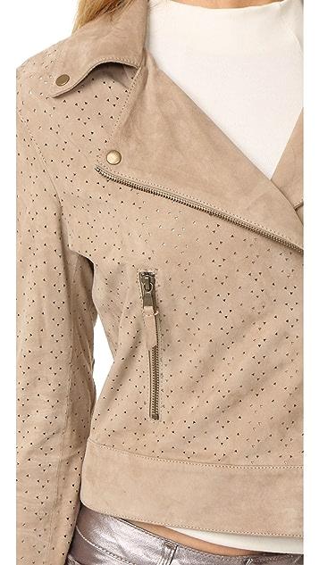 YVES SALOMON - METEO Perforated Biker Jacket